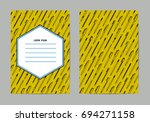 stationery collection. writing... | Shutterstock .eps vector #694271158