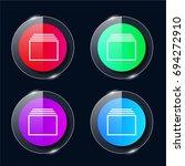 tabs four color glass button ui ...