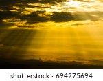 beautiful sunrise mountain on...   Shutterstock . vector #694275694