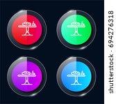 table four color glass button...