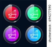 bathtub four color glass button ...