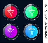 sink four color glass button ui ...