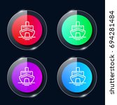 cruise four color glass button...