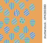easter eggs.  seamless vertical ...   Shutterstock .eps vector #694283380