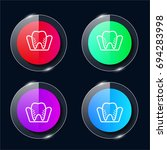 molar four color glass button...