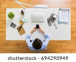 business  people and technology ... | Shutterstock . vector #694290949