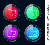 folder four color glass button...