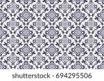 seamless ornament on background.... | Shutterstock .eps vector #694295506