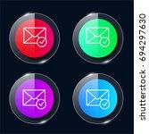 mail four color glass button ui ...