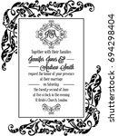 damask victorian exquisite... | Shutterstock . vector #694298404