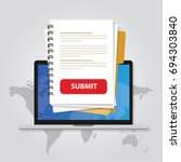 submit document online via... | Shutterstock .eps vector #694303840