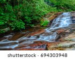 Amazing Stream Of Water  In Th...