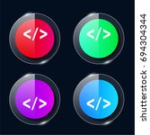 html coding four color glass...