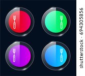 fork four color glass button ui ...