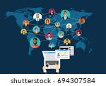 social network  people... | Shutterstock .eps vector #694307584