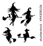 a set of black silhouettes of... | Shutterstock .eps vector #694308106
