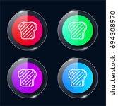 toast four color glass button...