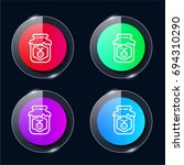 jam four color glass button ui...