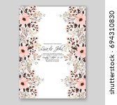 wedding invitation floral card... | Shutterstock .eps vector #694310830