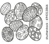 easter eggs | Shutterstock .eps vector #694313866