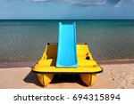 Paddle Boat With Water Slide O...