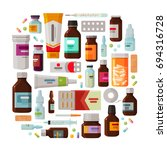 medicine  pharmacy concept.... | Shutterstock .eps vector #694316728