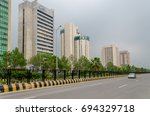 a modern view of islamabad city ... | Shutterstock . vector #694329718