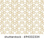 abstract geometric pattern with ... | Shutterstock .eps vector #694332334