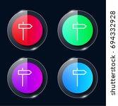 direction four color glass...
