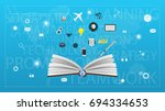 opened book with business... | Shutterstock .eps vector #694334653
