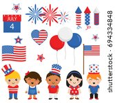 independence day fourth of july ... | Shutterstock .eps vector #694334848