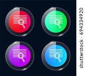 search four color glass button...