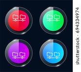 folders four color glass button ...