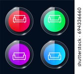 sofa four color glass button ui ...