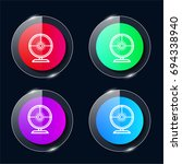 webcam four color glass button...