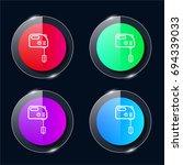 mixer four color glass button...