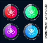 pear four color glass button ui ...