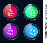 grill four color glass button...
