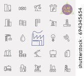 industrial line icon set   Shutterstock .eps vector #694345654