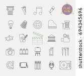 arts line icon set | Shutterstock .eps vector #694345696