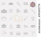 building line icons set | Shutterstock .eps vector #694345774