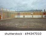 gloucester prison  opened to... | Shutterstock . vector #694347010