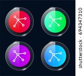 dna four color glass button ui...