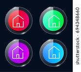 home four color glass button ui ...