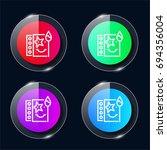 face paints four color glass...