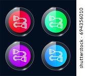 strandpulling four color glass...