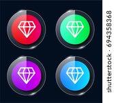 vip four color glass button ui...