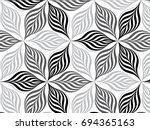 flower pattern vector ... | Shutterstock .eps vector #694365163