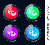 bills four color glass button...