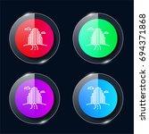 city four color glass button ui ...